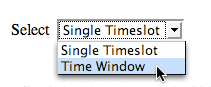 Select time window